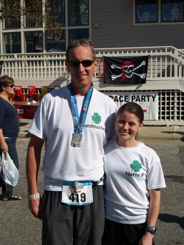 Poppy &amp; I posing after Poppy set a new marathon PR - Which he has already beaten again, by the way
