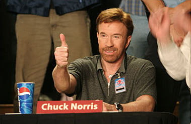 Aww, thanks, Chuck Norris!