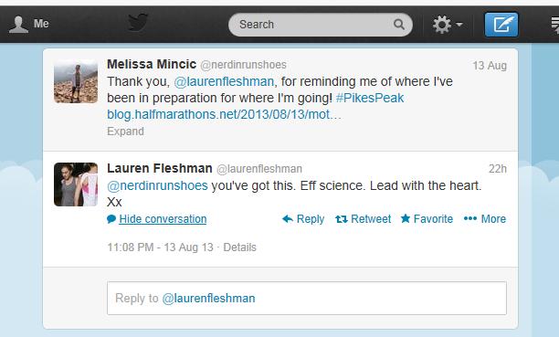 Lauren Fleshman Tweet