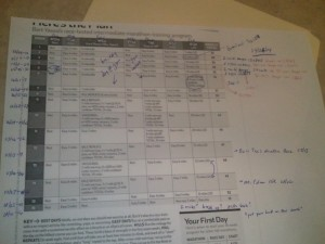 Marathon Training Plan Revisions